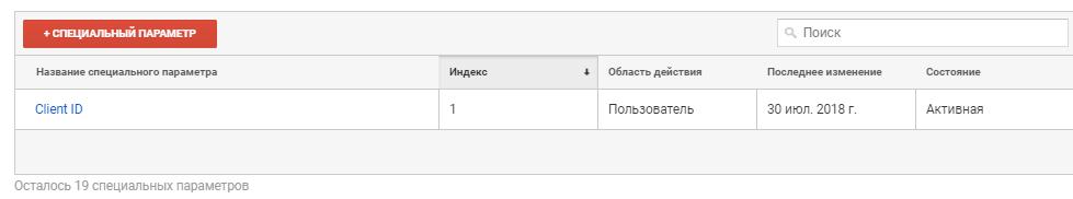Параметр Client ID