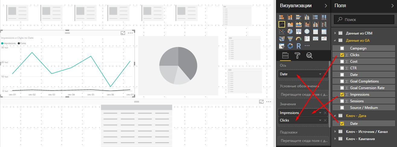 Тип визуализации график